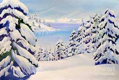 Painting - Lake Tahoe Winter by Glenyse Henschel