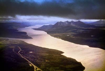 Photograph - Lake Teslin And The Alaska Highway by George Cousins