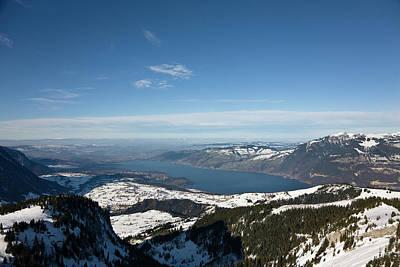 Bernese Photograph - Lake Thun Seen From Mount Standflue by Martin Zwick