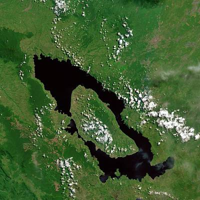 Sumatra Photograph - Lake Toba by Us Geological Survey