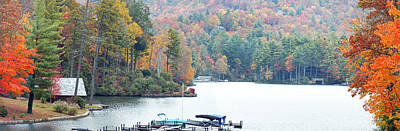 Lake Toxaway In The Fall Art Print