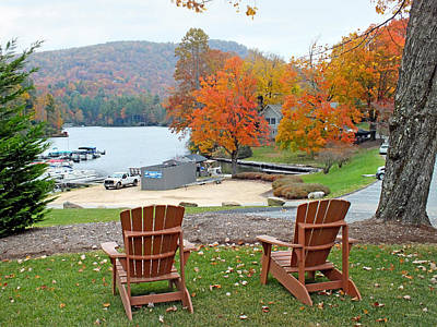 Photograph - Lake Toxaway Marina In The Fall by Duane McCullough