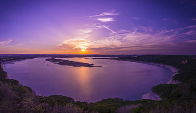 Lake Travis Sunset Art Print