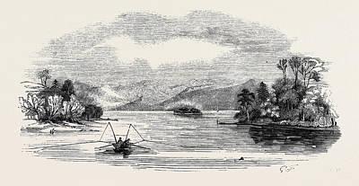 Trout Fishing Drawing - Lake Trout Fishing by English School