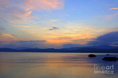 Photograph - Lake Umbagog At Dusk by Neal Eslinger