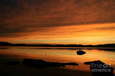Photograph - Lake Umbagog Dusk Reflections  by Neal Eslinger