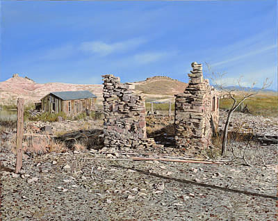 Ruins Painting - Lake Valley-new Mexico  by Guido Borelli