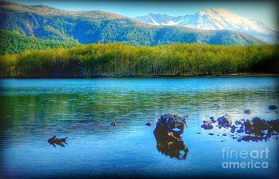 Photograph - Lake View Of Mount Saint Helens  by Susan Garren
