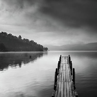 Pier Wall Art - Photograph - Lake View With Pier II by George Digalakis
