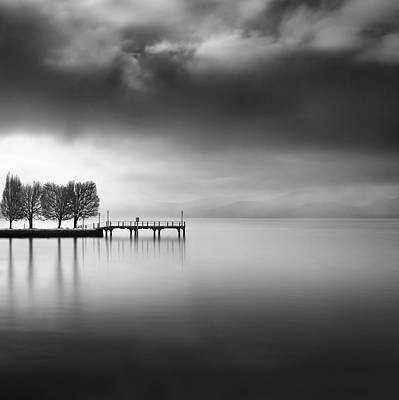 Pier Wall Art - Photograph - Lake View With Trees by George Digalakis