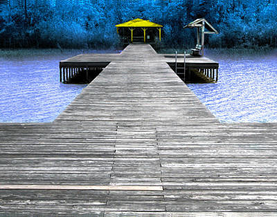 Lake Waccamaw Photograph - Lake Waccamaw Deck  by Joseph Tese