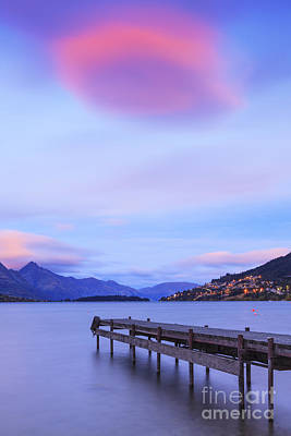 Clouds Photograph - Lake Wakatipu Queenstown New Zealand by Colin and Linda McKie