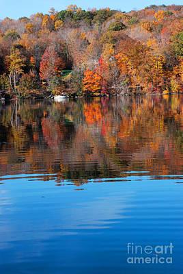 Warren Connecticut Photograph - Lake Waramaug Blue II by Andrea Simon