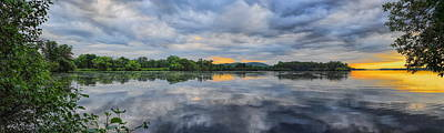 Photograph - Lake Wausau Summer Sunset Panoramic by Dale Kauzlaric