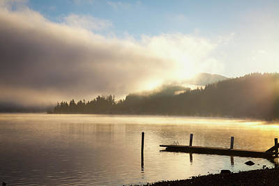 Lake Whatcom At Sunrise  Bellingham Art Print by Blake Kent