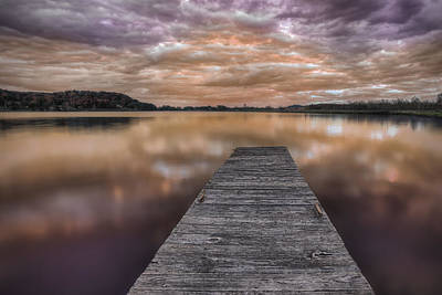 Lake White Twilight Art Print