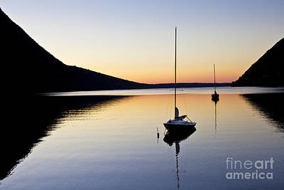 Photograph - Lake Willoughby Twilight by Alan L Graham