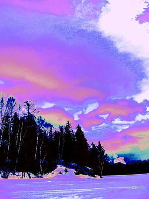 Winter  Snow Sky  Art Print