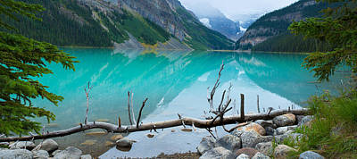 Canadian Rockies Photograph - Lake With Canadian Rockies by Panoramic Images