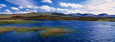 Rannoch Moor Photograph - Lake With Hills In The Background by Panoramic Images