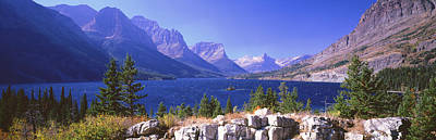 St Mary Photograph - Lake With Mountain Range by Panoramic Images