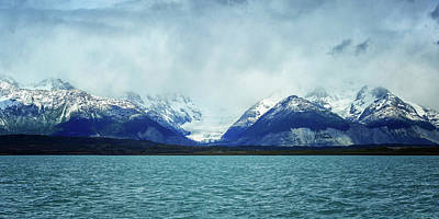Cold Temperature Photograph - Lake With Snow Capped Mountains by Panoramic Images