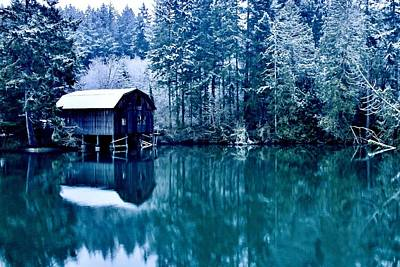 Photograph - Lakebay Winter by Benjamin Yeager