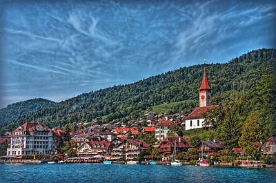 Photograph - Lakefront Provincial Town by Hanny Heim