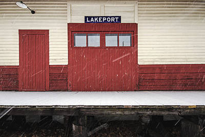 Photograph - Lakeport Train Station by Robert Clifford