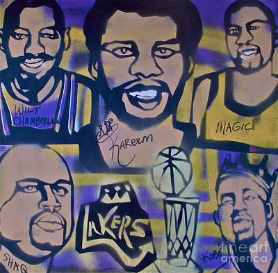 Magic Johnson Painting - Laker Love by Tony B Conscious