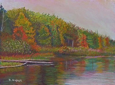 Pastel - Lake's Edge by Denise Wagner