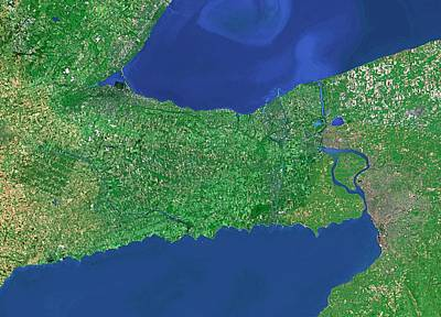 Lake Erie Wall Art - Photograph - Lakes Erie And Ontario by Worldsat International/science Photo Library