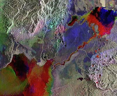 Uganda Photograph - Lakes In Western Uganda by European Space Agency
