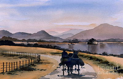 Painting - Kerry... Lakes Of Killarney by Val Byrne