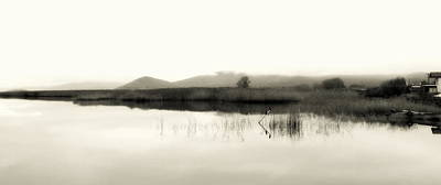 Photograph - Lakescape Bw by Ioanna Papanikolaou