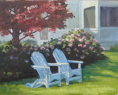 Painting - Lakeside Blossums by Judy Fischer Walton