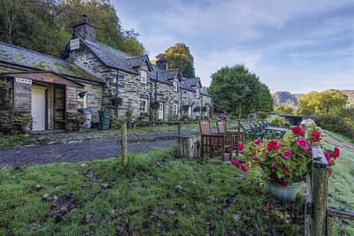 Tea Tree Flower Photograph - Lakeside Cafe by Ian Mitchell