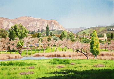 Mission Painting - Lakeside California by Mary Helmreich