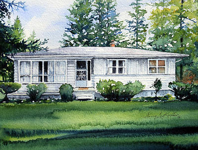 Lakeside Cottage Art Print by Hanne Lore Koehler