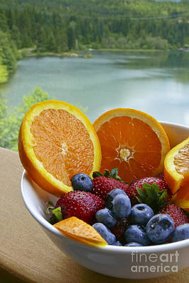 Art Print featuring the photograph Lakeside Fruit Bowl by Maria Janicki
