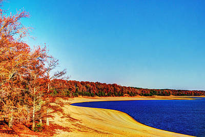 Photograph - Lake - Beach - Lakeside In Autumn by Barry Jones