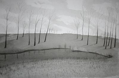 Music Figurative Potraits - Lakeside in Ink by Stacy C Bottoms