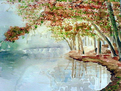 Painting - Lakeside In The Carolinas by Ahonu