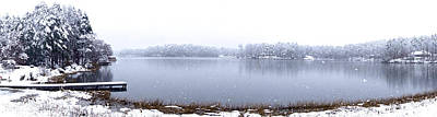 Photograph - Lakeside In The Winter Snow by Charlie and Norma Brock