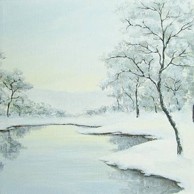 Painting - Lakeside In Winter by Anna Bronwyn Foley