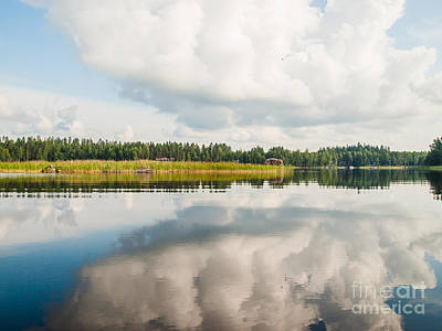 Photograph - Lakeside Morning Scenery by Ismo Raisanen
