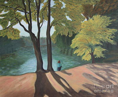 Lakeside - Painting Original by Christiane Schulze Art And Photography