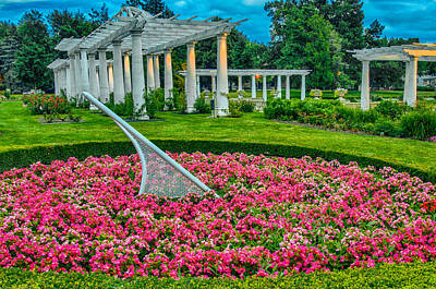 Photograph - Lakeside Park Floral Gardens by Gene Sherrill