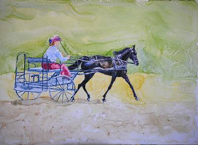 Carriage Driving Painting - Lakeside Pleasure Drive by Diana Prout