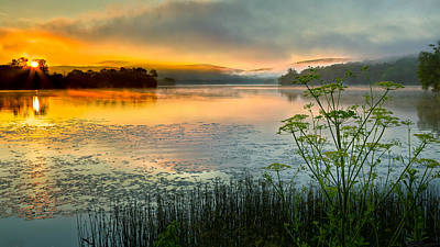 Morning Light Photograph - Lakeside Sunrise by Bill Wakeley